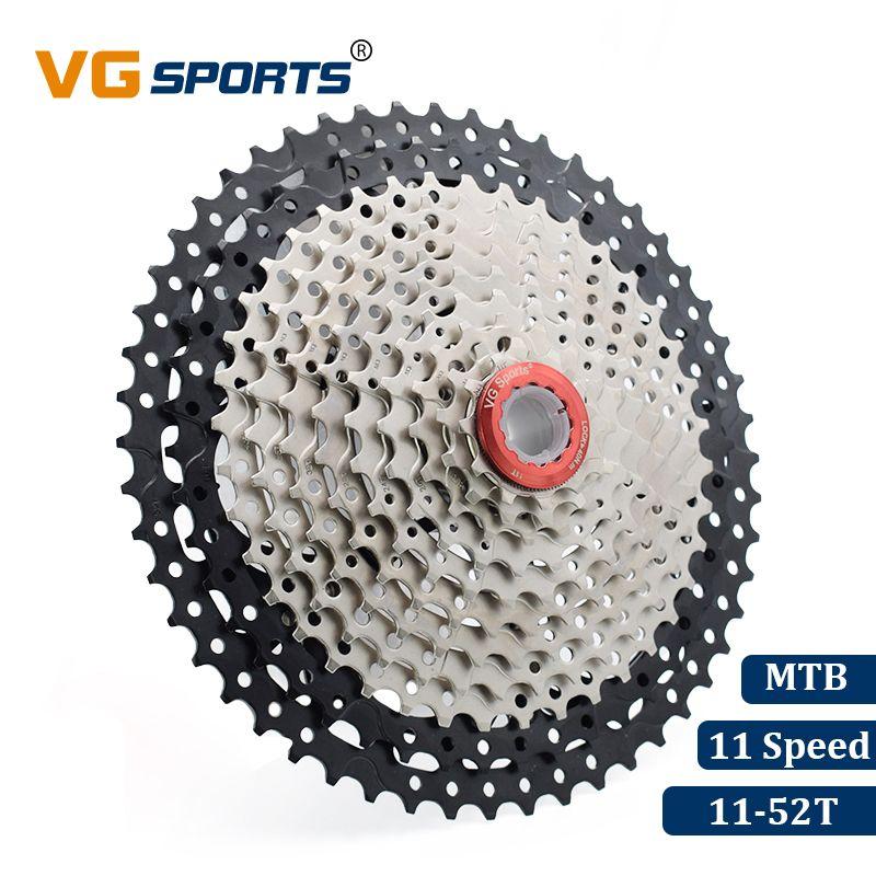 VG Mountain Bike 11Speed Big MTB Cassette Flywheel 11-52T Black for SRAM,Shimano