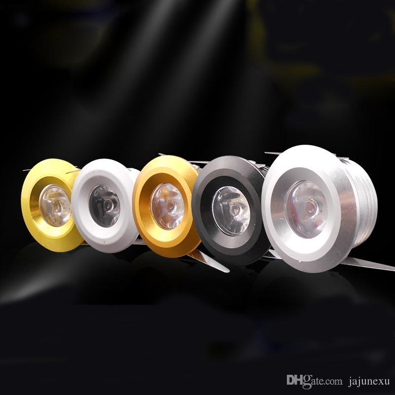 1W البسيطة LED أضواء سوبر مصباح صغير LED إضاءة مجلس الوزراء مع أسود / فضي / الذهب لون الجسم