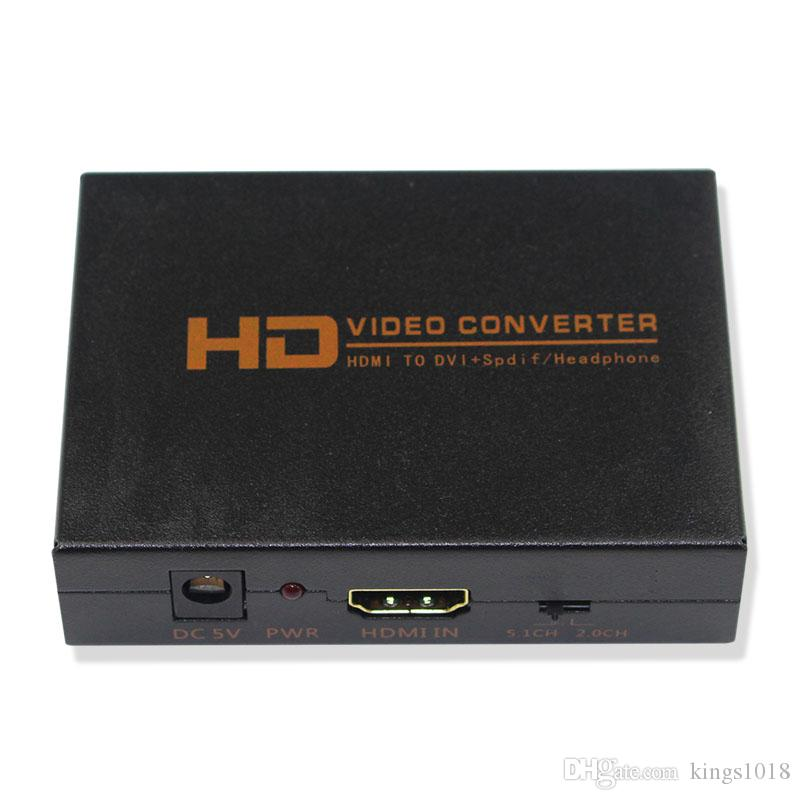 HDMI to DVI Converter Adapter with Optical output and 3.5mm Audio Jack For HDTV Projector PS4 TV BOX