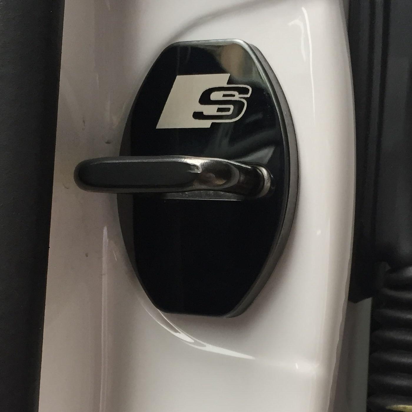 4 PCS / Set Nouvelle Collection voiture serrure de porte capots protecteurs cas anticorrosif pour AUDI A1 A3 A4 A5 A7 A8 Q3 Q5 style de voiture Q7