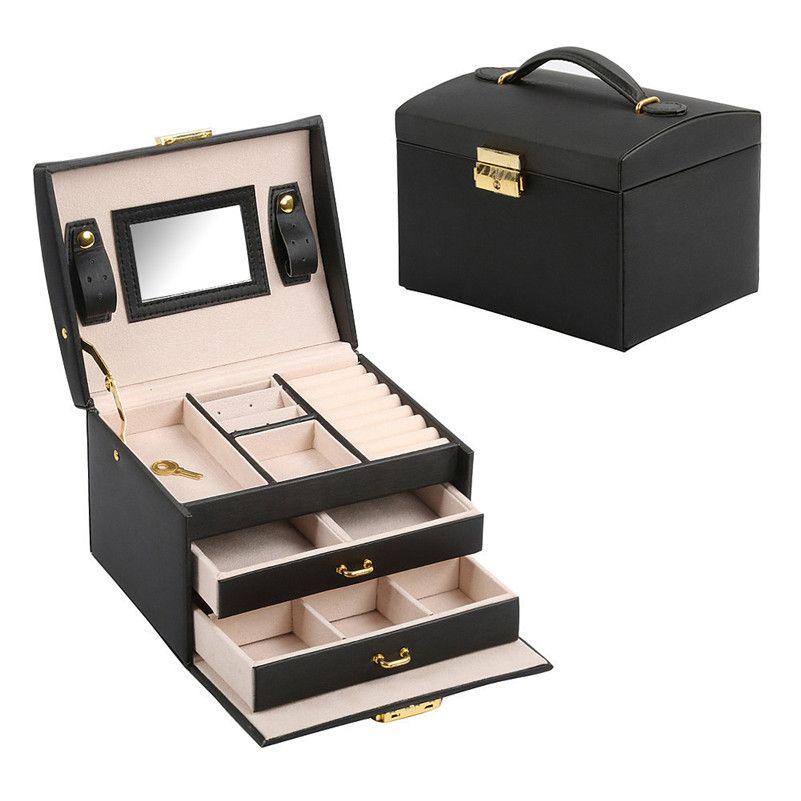 Travel Makeup Organizer Bag Case Cosmetic Jewelry Organizer Box Toiletry Make Up Gift Box Professional Jewelry Cosmetics Case