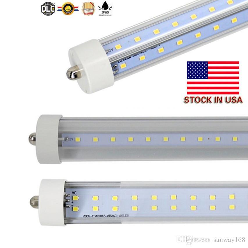 2400mm LED-buis T8 72W V-vormige en Dural Rij Dubbele Kanten SMD2835 LED Lichtbuizen 8FT LED AC 85-265V UL DLC