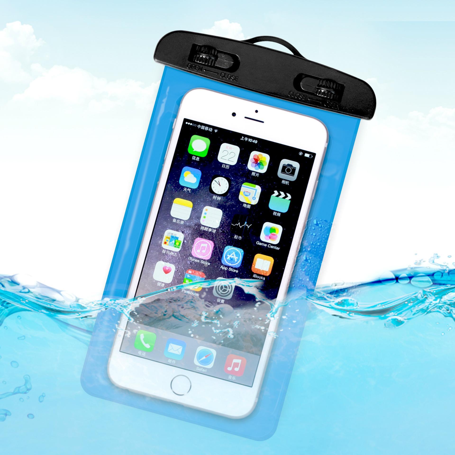 6 بوصة ماء حقيبة الهاتف المحمول الحقيبة تحت الماء الجاف حالة تغطية ل زورق كاياك ترميث السباحة الانجراف