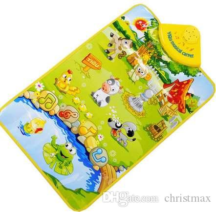 Frühes Lernen Spielzeug Kinder Baby Nutztier Musical Musik Touch Spielen Singen Gym Teppich Matte Spielzeug Geschenk Kinder Lernspielzeug MM3