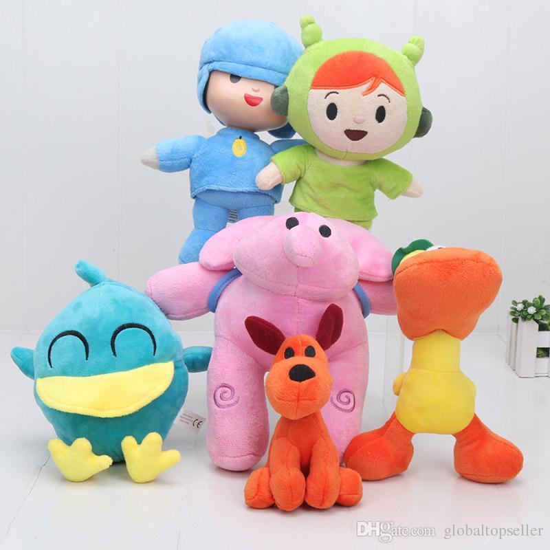 4 Pocoyo Elly Pato Loula Plüsch Plüschtier Figuren Stofftier Spielzeug Puppe Set