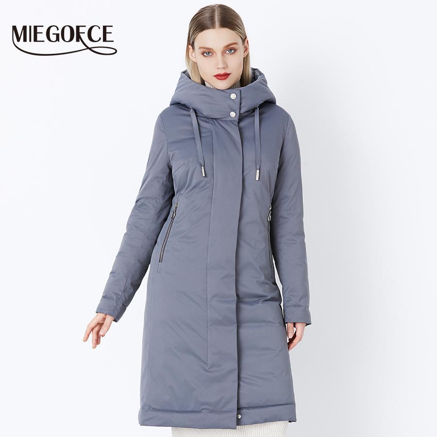 2018 MIEGOFCE Collection Femmes Hiver Nouvel élégant manteau de mode Hiver Avec Bio Collection Fluff Manteau Chaud Spacieux Pour Femmes S18101102