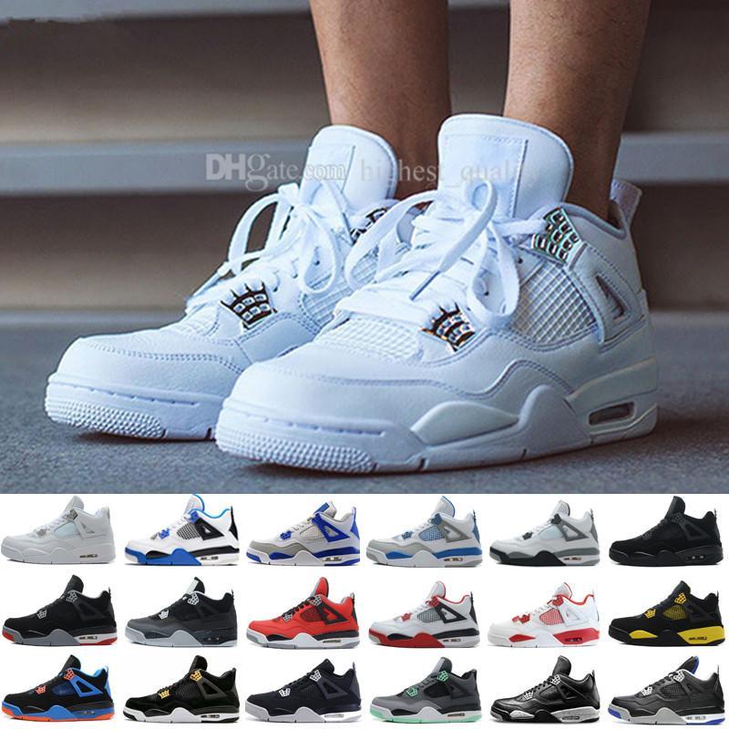 Neueste Schuhe 4 IV Eminem Basketball für Männer Schwarz Denim Undefeated Encore Blau Olivgrün Herren Version Großhandel Größe 41-47 US 8-13