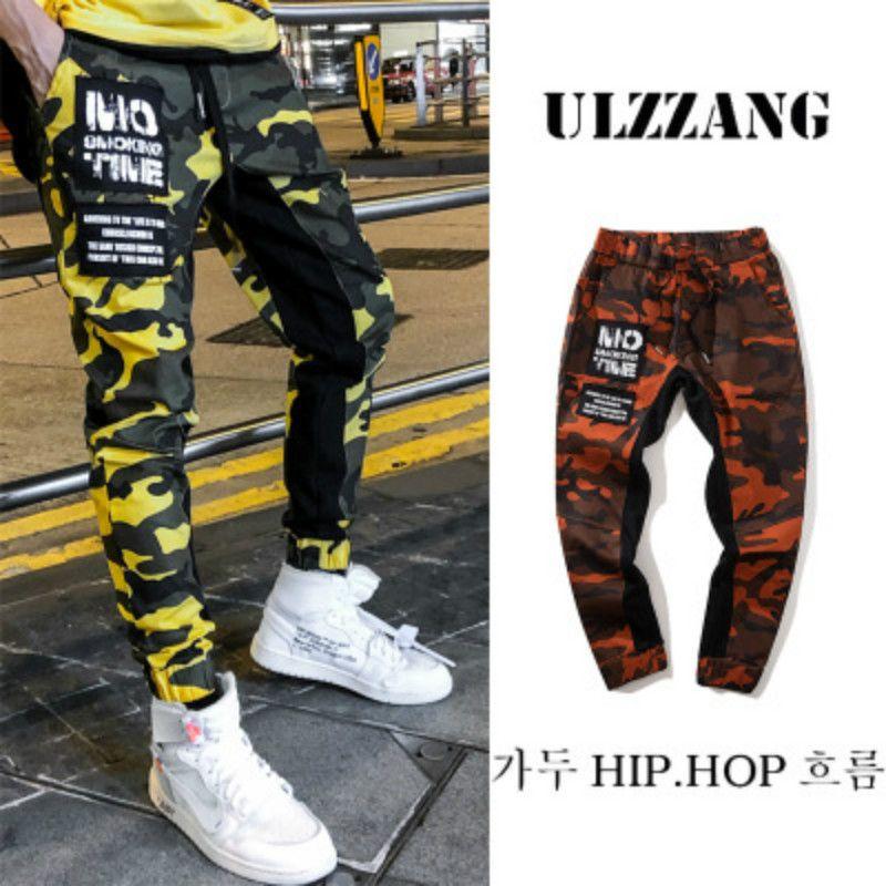 Hombres y mujeres Streetwear Hip Hop Camo Pants Ropa 2018 Otoño Harajuku Style Sweatpants Harem Fitness Leggings Erkek Salvar