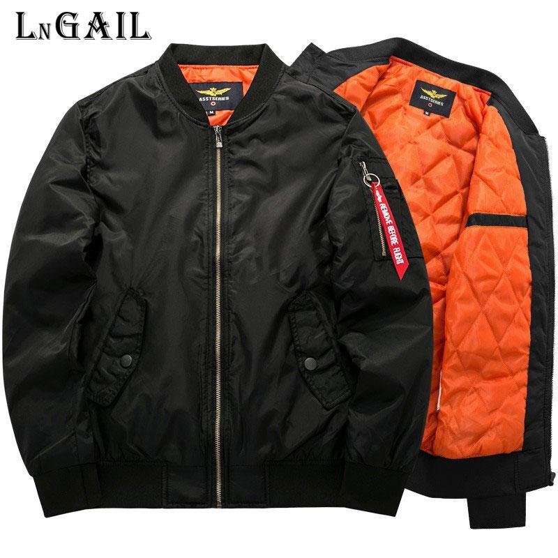 7XL 8Xl Bomber Jacket 2018 casaco fashion luva cheia soild cor MA1 ai roupas vigor jaqueta masculina