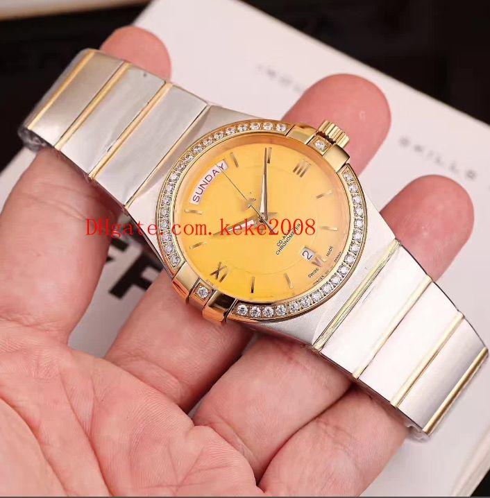 8 farben fabrik armbanduhr konstellation 38mm edelstahl römische zifferblatt swisseta 8500 mechanisch transparent damen damenuhr uhren