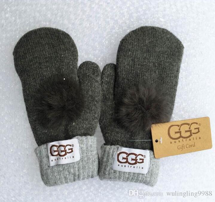Neue Top Qualität Frau Wolle Handschuhe Europäischen Modedesigner Warmer Handschuh Fahren Aus Sporthandschuh Marke Handschuhe 8 Farben