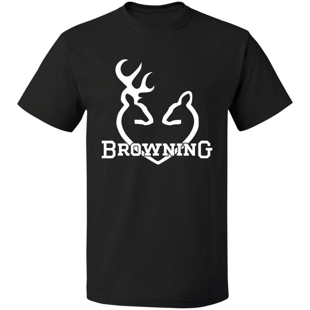 Browning Yeni Logo erkek T-shirt Komik Ücretsiz Kargo Boyut S-3xl Komik Kısa Kollu Pamuklu Tişört Baskı Yuvarlak Boyun Adam