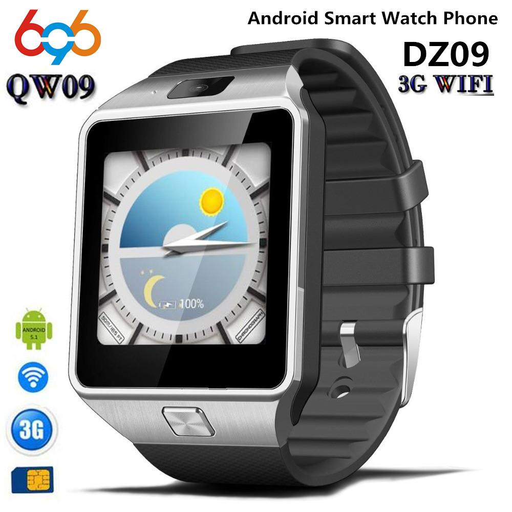 wholesale QW09 Smart watch DZ09 Android Upgrade Bluetooth Mobile phone Smartwatch Support Wifi 3G SIM Card Play Store Download APP