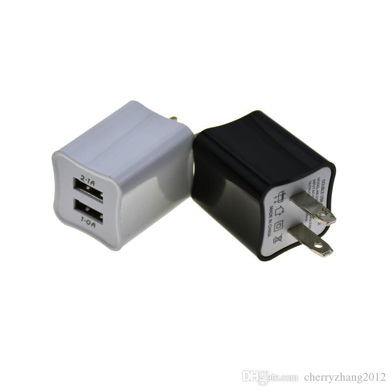 Doppel-USB-Wand aufladenaufladeeinheits US-Stecker 2.1A Wechselstrom-Adapter-Wand-Aufladeeinheits-Stecker 2-Anschluss für Samsung Galaxy Note LG Tablet