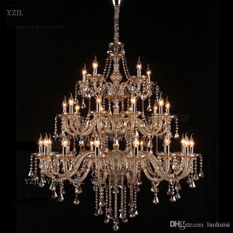 Chandelier K9 crystal pendant chandelier large living room project Villa duplex staircase pendant chandelier crystal lighting