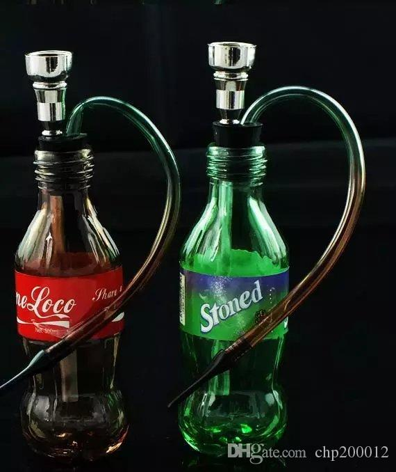 Nueva alta botella de agua de vidrio, Venta al por mayor Bongs Oil Burner Pipes Water Pipes Glass Ripe Oil Rigs Smoking Free Shipping
