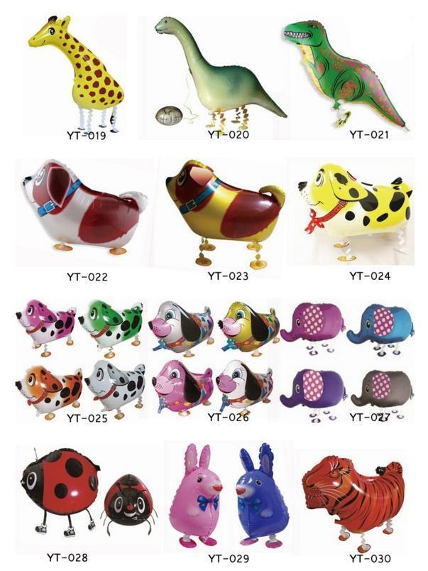 Горячая продажа 40 стиль смешные прогулки животных Домашние животные воздушный шар надувные алюминиевые рождественские украшения детские игрушки DHL Бесплатная доставка