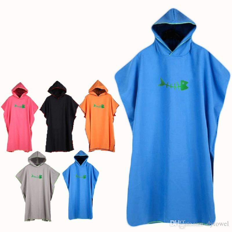 be Surfing Gift Water Absorb Quick Drying With Hood Poncho be Wetsuit Changing Soft Vacation Outdoor screen Swimming Adults Grey
