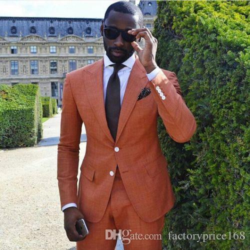 Cool Golden Groomsmen Peak Lapel Two Buttons (Jacket+Pants+Tie) Groom Tuxedos Groomsmen Best Man Suit Mens Wedding Suits Bridegroom