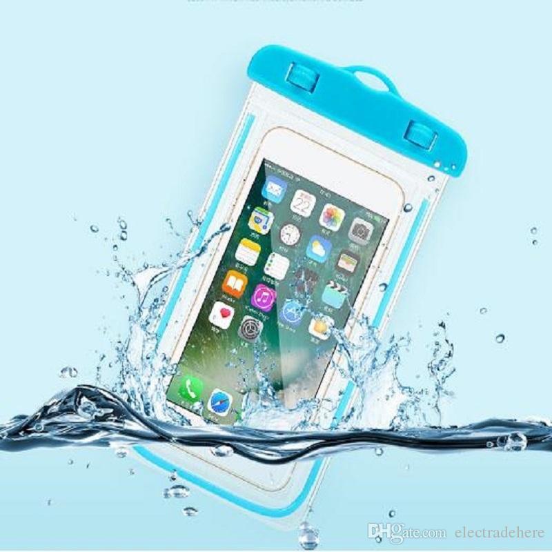 الوردي الأزرق 5.5 بوصة حقيبة الشاطئ للماء عملة وحاملات التخزين الجاف الرياضة في الهواء الطلق حزم
