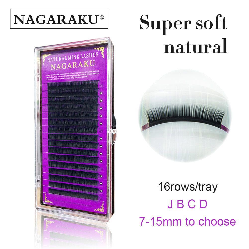 NAGARAKU 3D Eyelash Extension Mink Individual Eyelashes Extension Natural Eyelashes Russion Volume Eyelash Extensions Eye Make Up Tool