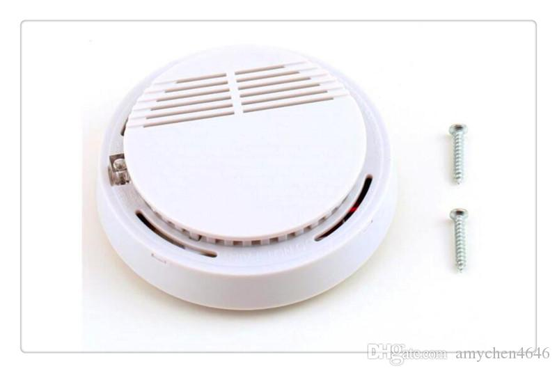 New Version White Home Security System Photoelectric Independent Smoke Detector Fire Alarm with DHL Free Shipping