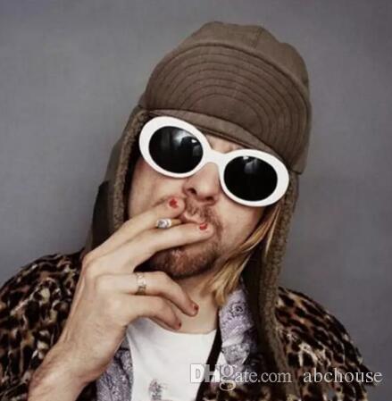 19 farben NIRVANA Kurt Cobain Sonnenbrillen Retro Vintage Oval sonnenbrille Männer Frauen Punk Rock Shades runde Brillen