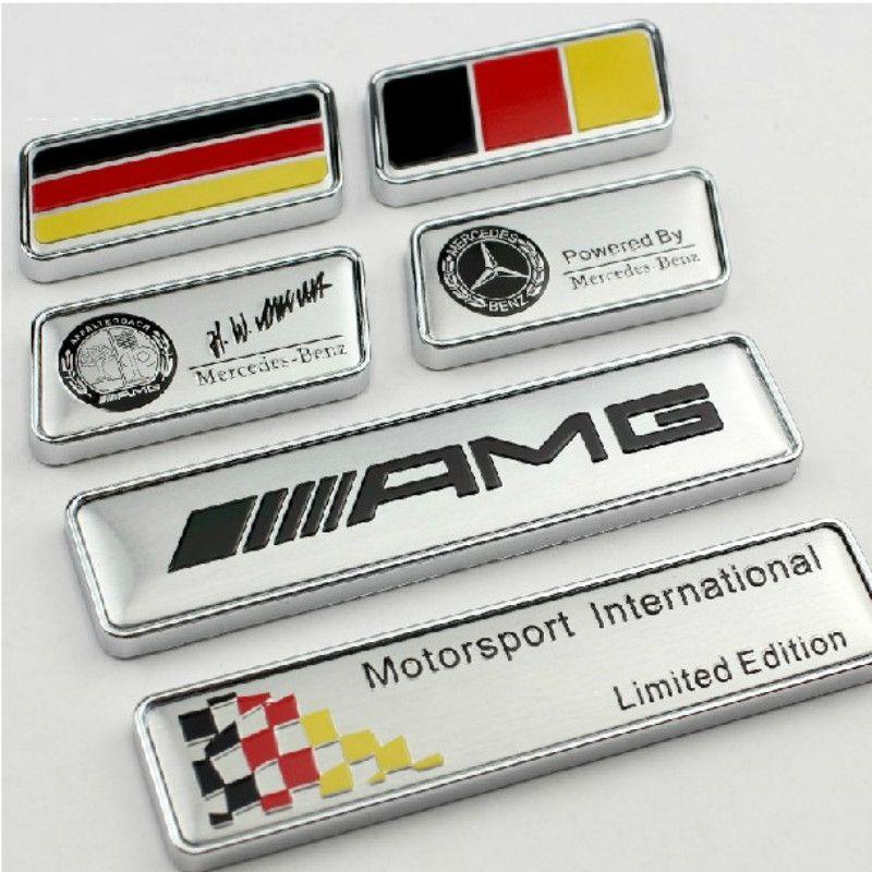 Etiqueta engomada de la letra de AMG de la marca del logotipo de la rueda de aluminio AMG