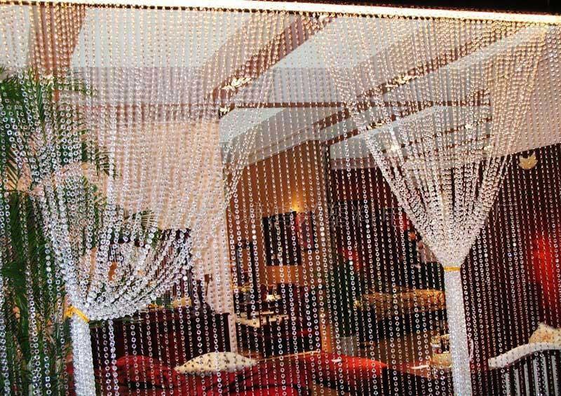 Umweltfreundlich 99 Feets Garland Diamant-Strand Acrylkristallperlen Hochzeit Dekoration Kristall 10mm hängende Party Supplies