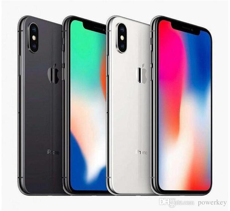 100 % 오리지널 잠금 해제 된 재조정 된 애플 아이폰 x iphonex 4g LTE 휴대 전화 5.8 '12.0MP 3G RAM 64G 256G ROM이 얼굴 ID 핸드폰 1PCS