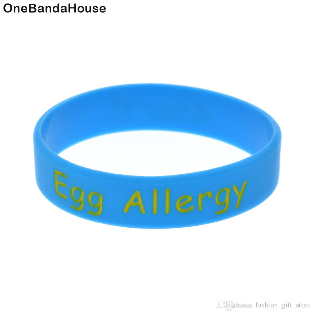 1PC Egg Allergy Silicone Wristband For Children Carry This Message As A Reminder in Daily Life