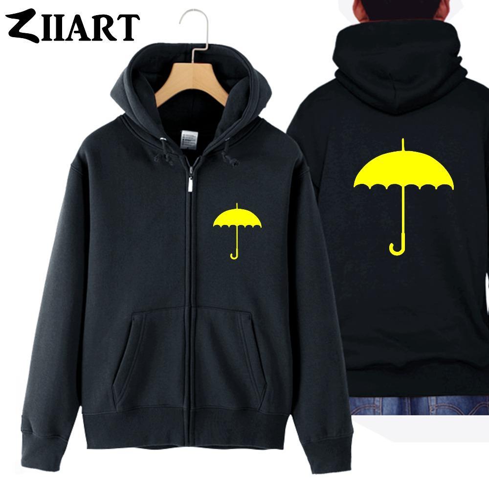 HIMYM Yellow Umbrella coppia abiti uomo uomo cotone pieno zip con cappuccio Giacche cappotti