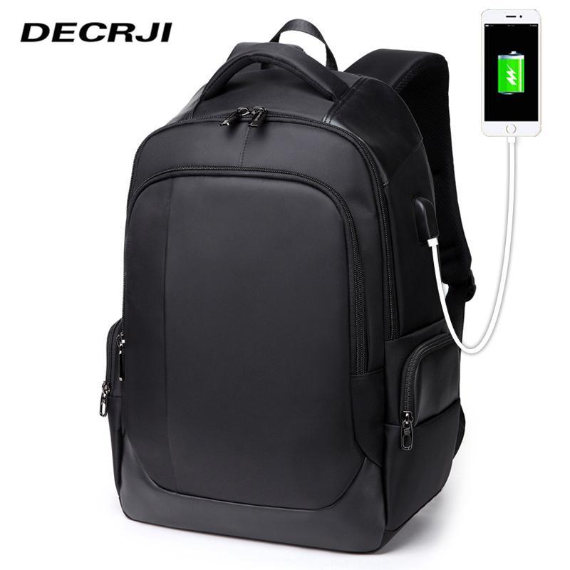wholesale 15.6 Laptop Men Backpack Bag USB Charging Computer School bag Backpacks For Men Women Black Rucksack Waterproof Mochila