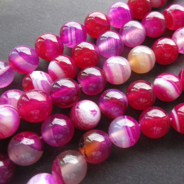 8mm,rose Agate Onyx perles pierres précieuses en vrac 38cm