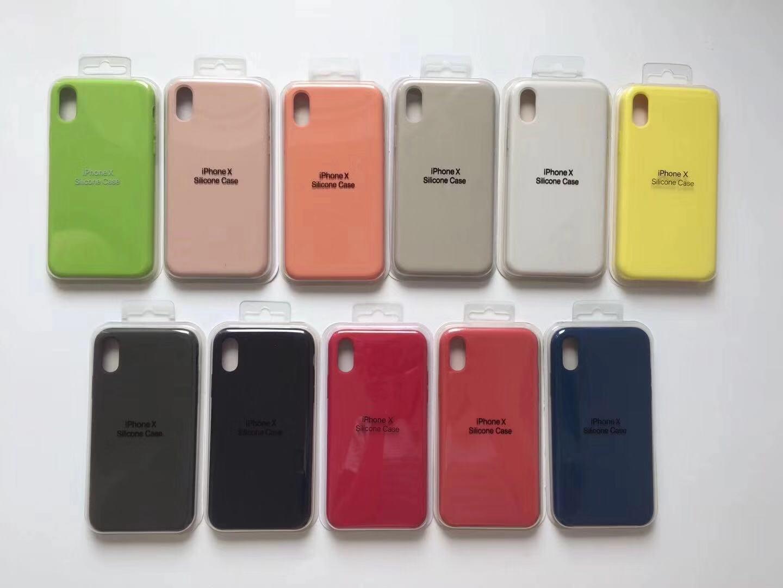 Housse Smartphone Avec Emballage De Détail Avec Logo Pour Étui En Silicone  Apple Real Real Liquide Pour IPhone XS 7 8 6s Plus XR XSMAX Coque