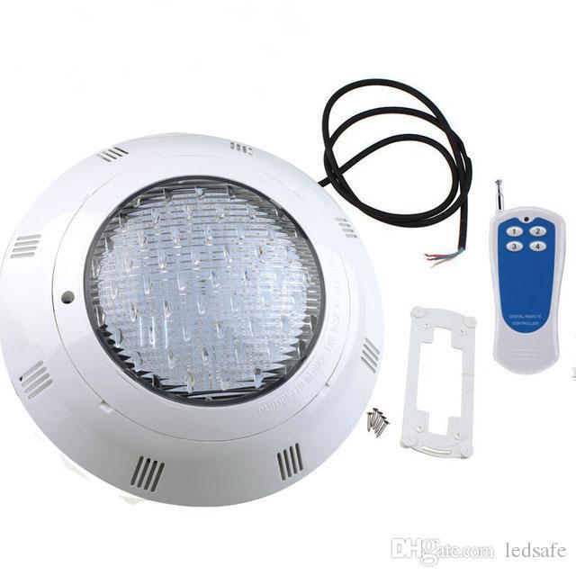 Nuova LED luce della piscina di RGB della lampada AC 12V montaggio a parete Fontana Luci esterne Underwater Lights Fontana Lampe 18W 24W 36W con FCC Remote