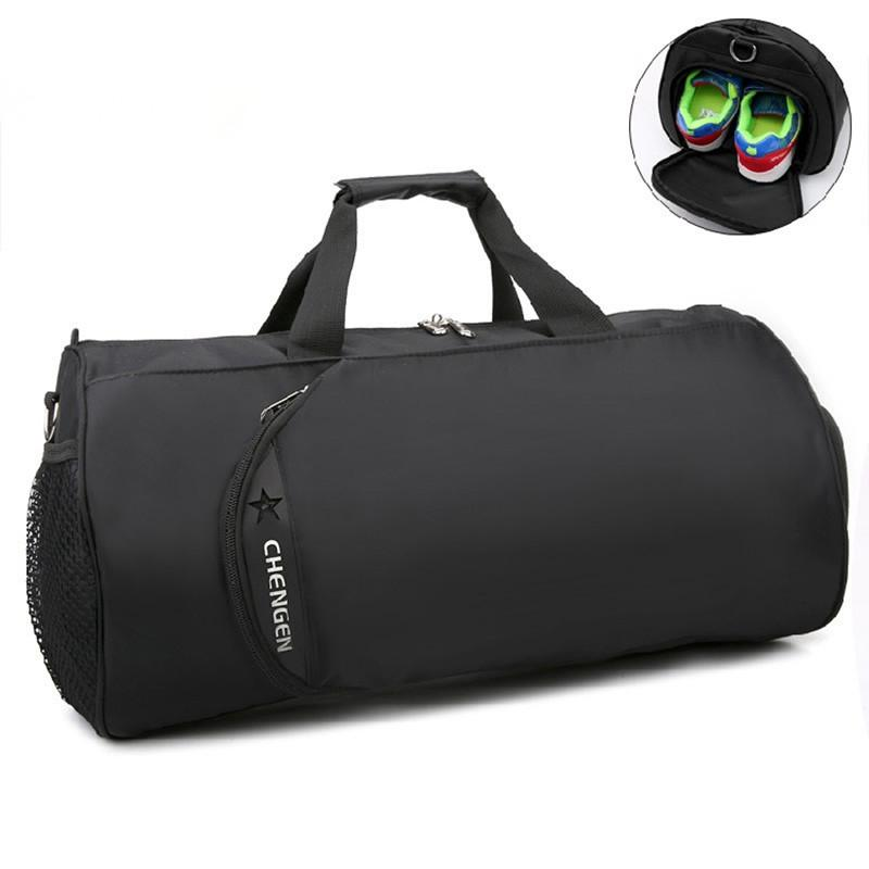 2018 New Waterproof Gym Bag Fitness Training Sports Bag Portable Shoulder Travel Independent Shoes Storage sac de sport