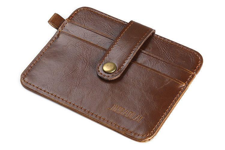 online store 4ed9f 917c5 Retro Vintage Thin Slim Credit Card Holder PU Leather Mini Wallet ID Case  Purse Bag Pouch Men Women Business Credit Card Holder Purse Organizer ...