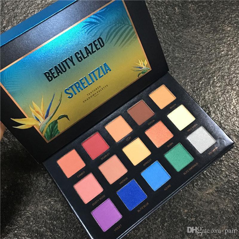 Новые горячие макияж красоты глазурованные 15 цветов палитры теней для век закат Сумерки / Strelitzia глаз косметика высокое качество DHL доставка