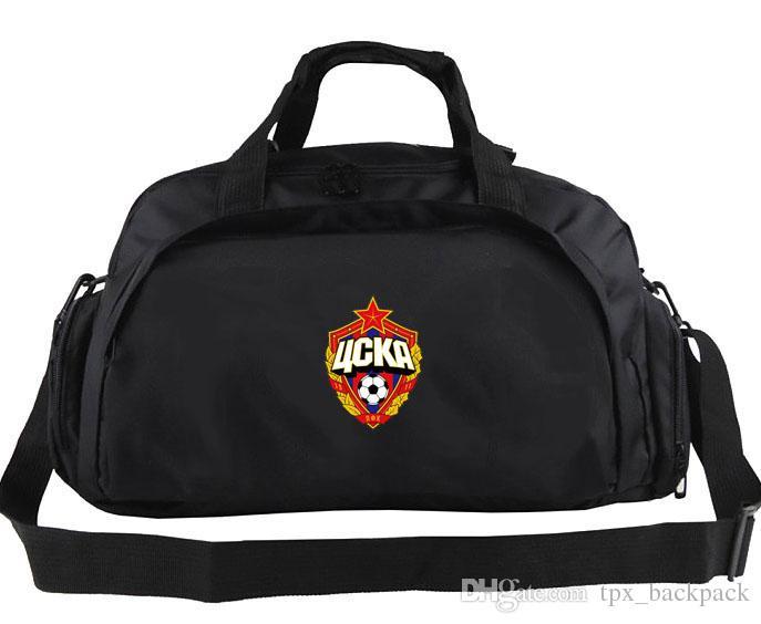 PFC CSKA Moskova Duffel Çanta Şampiyonu Kulübü Tote Futbol Güçlü Takım Sırt Çantası Futbol Logosu Bagaj Spor Omuz Duffle Amblem Sling Paketi