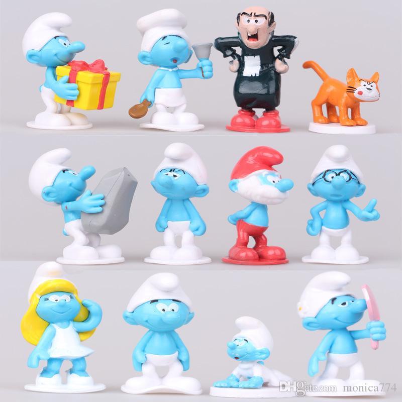 12 sztuk / zestaw 3-6 cm cartoon les schtro elf lalki figurki słodkie kawaii zabawki anime akcja figurki ciasto topper dekoracji biurka dekoracja t26