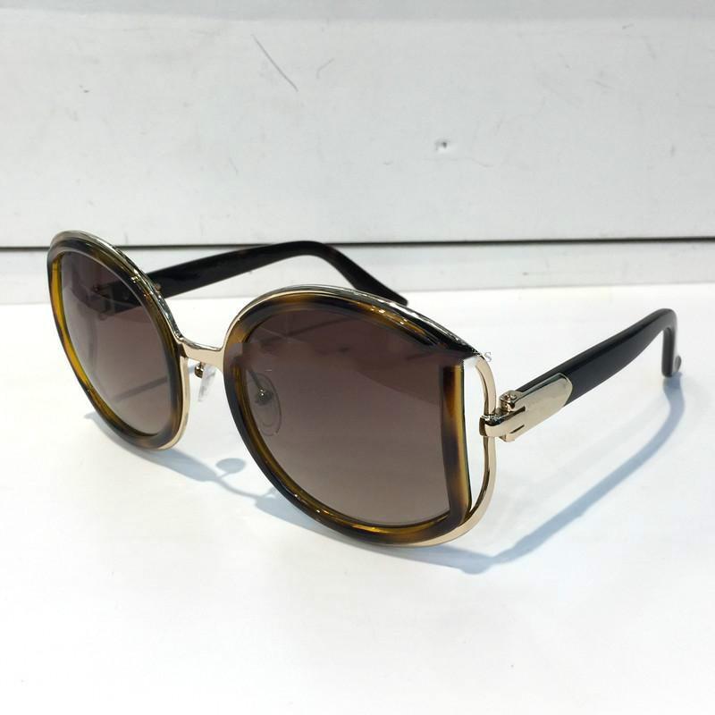 719 Güneş Gözlüğü Lüks Kadınlar Marka Tasarımcısı 719 S Moda Yaz Tarzı Popüler Yuvarlak Çerçeve En Kaliteli UV Koruma Lens Kutusu Ile Gel