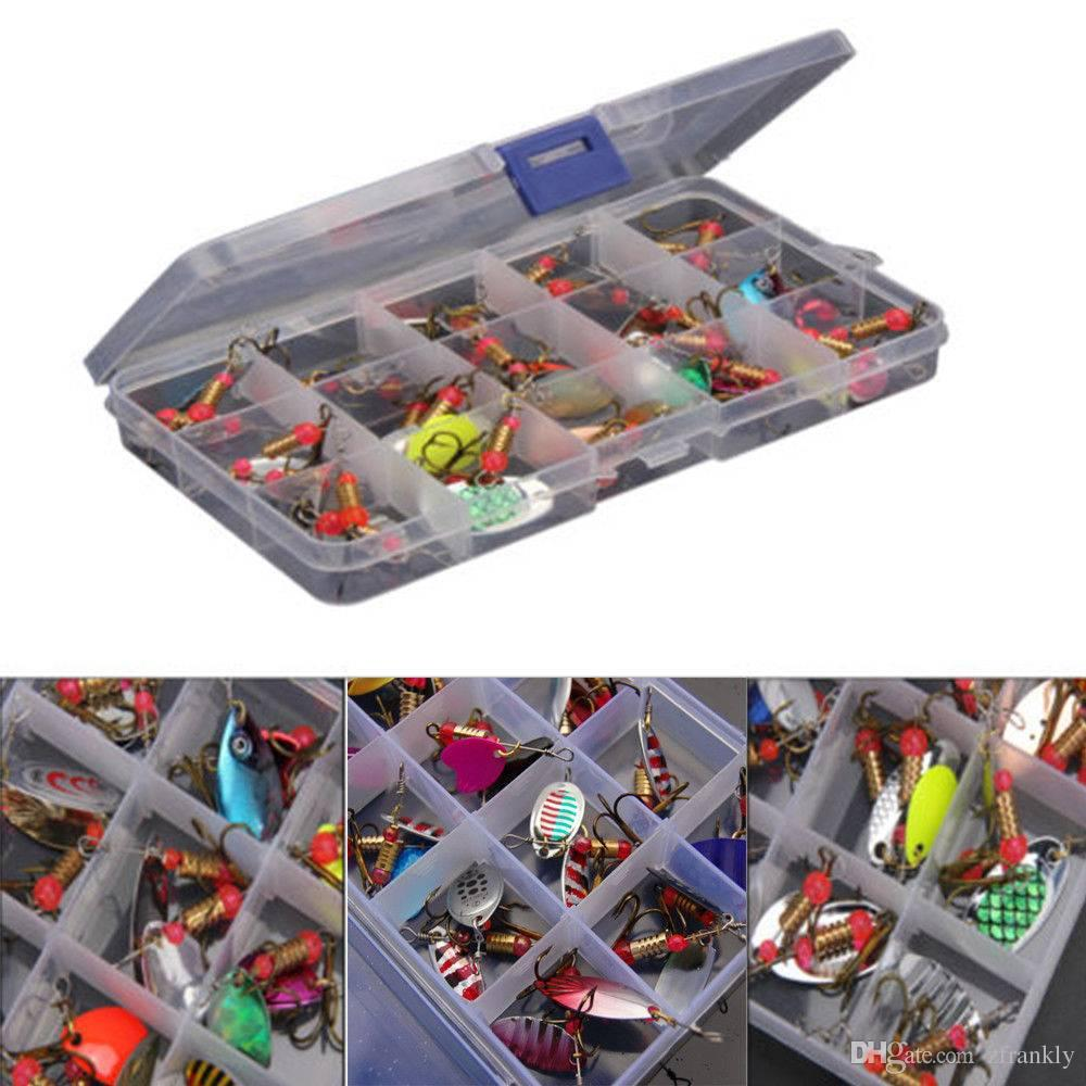 HOT!Lot 30pcs Trout Spoon Metal Fishing Lures Spinner Baits Bass Tackle Colorful