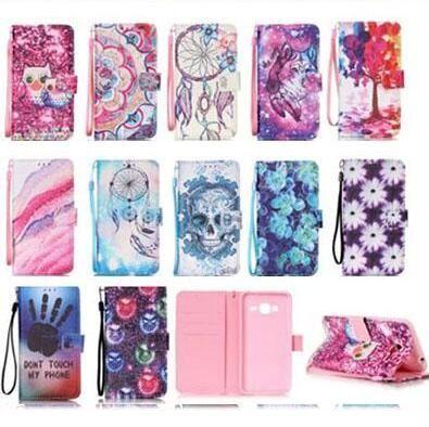 Dream Catcher Baykuş Ağacı Kapak PU Deri Flip Case iphone 6 6 S 7 8 Artı Galaxy S7 Kenar Not 7 J510 J710