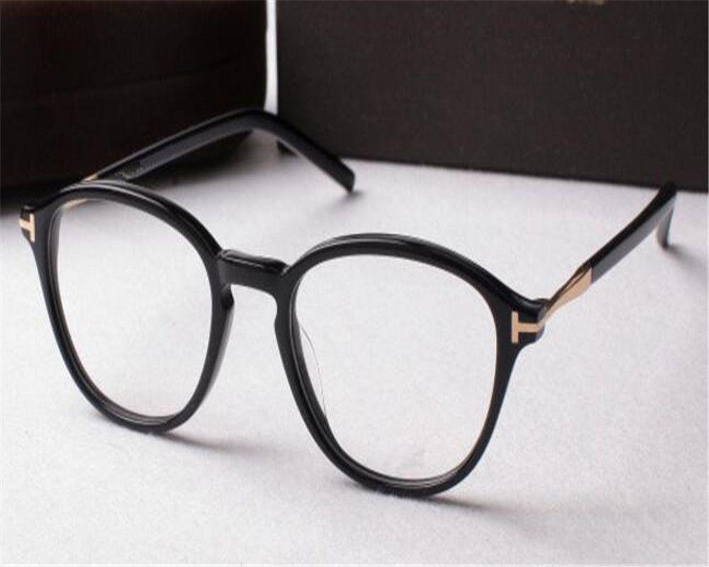 Moda DOWER ME Miopía Anteojos Unisex Marco redondo Borde completo Acetato Negro Óptico para lectura Gafas Anteojos AL5397
