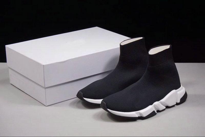 2018 Luxe Chaussette Chaussures Trainers vitesse de course Chaussures de sport Sock course Partants Chaussures noires hommes et des femmes Chaussures de sport 36-45