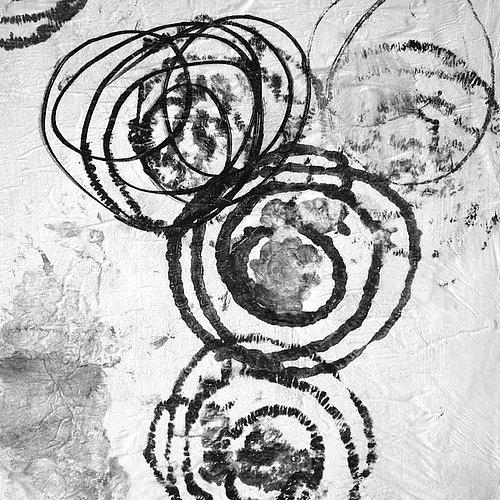 Grosshandel Schwarz Weiss Ringe Abstrakte Malerei Moderne