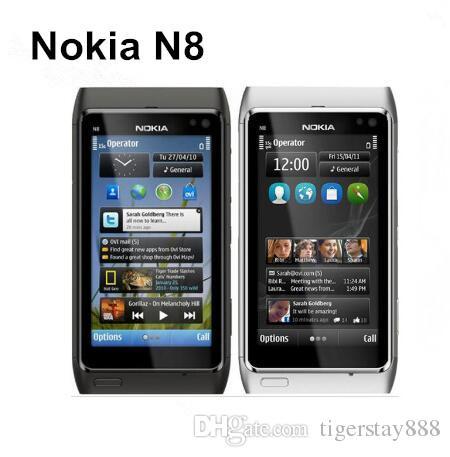 الأصلي تجديد نوكيا N8 مفتوح جوهر واحد 16GB 3.5 بوصة 12.1MP الجيل الثالث 3G WCDMA الهاتف المحمول
