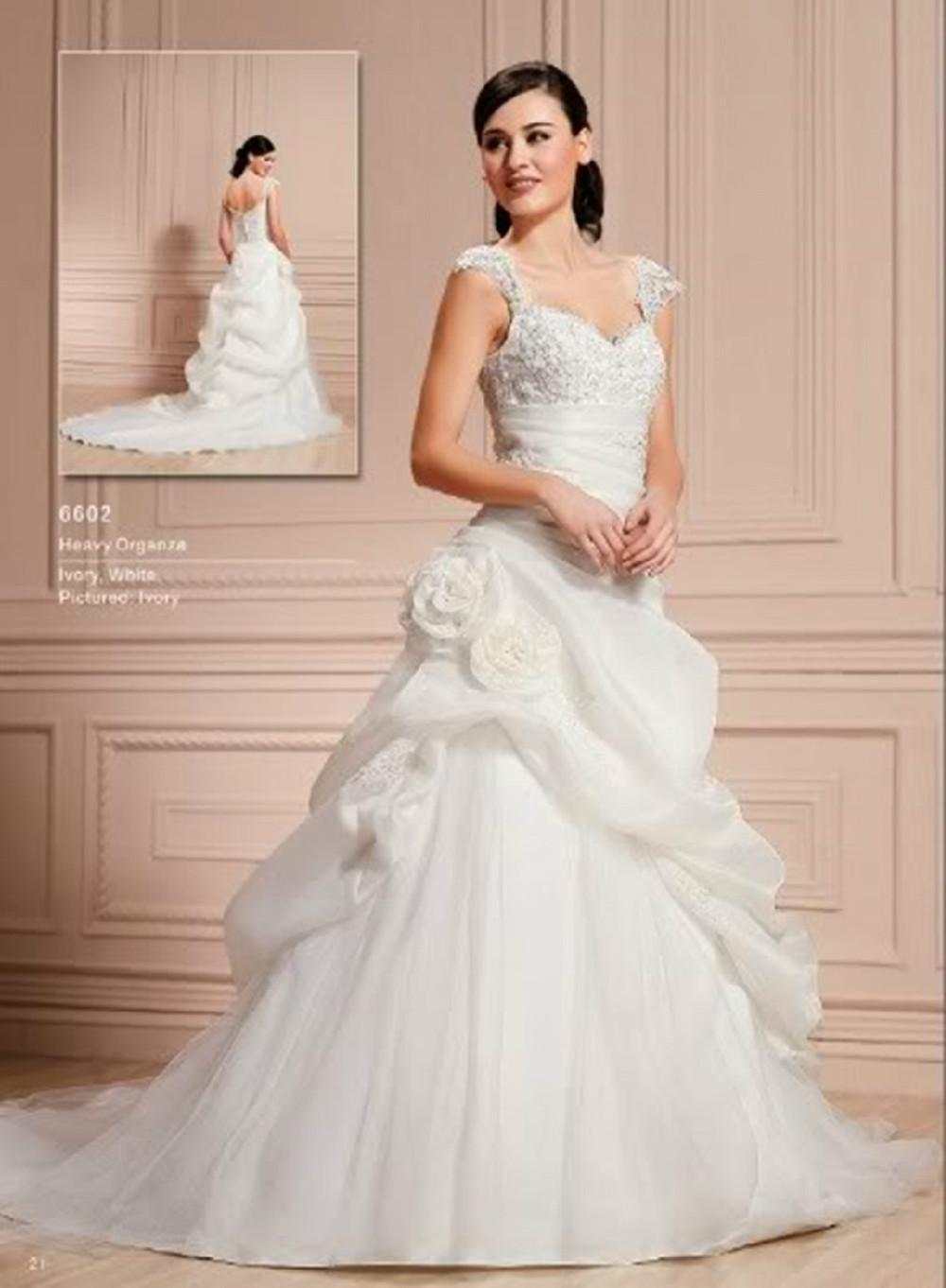 Vestido frete grátis 2018 chiffon vestidos de casamento com mangas transparentes Organza Spitze Braut Brautkleid / Ballkleid