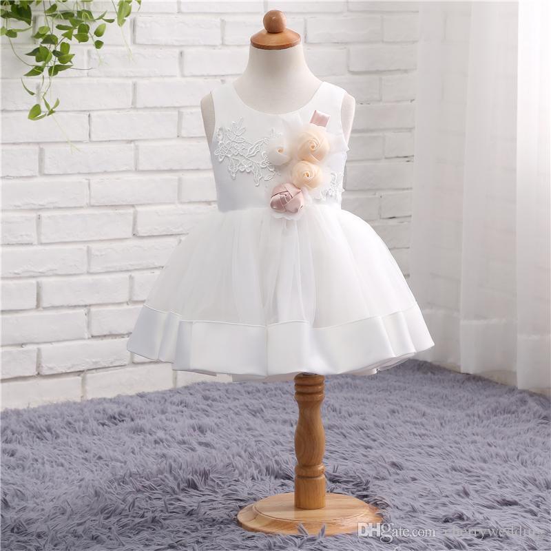 Romantic Flower Girl Dress Princess Dress for Weddings Hot Sale Flower Girl Dress Handmade Flowers TZ020